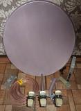продам комплект спутникового тв, антенна, три головки, кабель,тюнер Енакиево