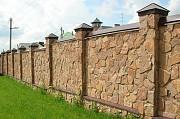 Строительство заборов. Забор из профлиста. Донецк