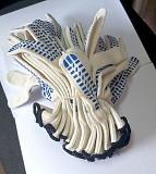 Перчатки, х/б, белые, пхв покрытие, Точка, класс вязки - 10, с манжетом Донецк