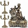 Распродажа 8-) набор подарочный компании «Virtus» часы настольные «Lady With Roses» + пара канделябр