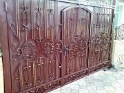 ворота с калиткой внутри лист 2 мм