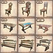 Деревянная мебель для дома, кафе, сада в ассортименте Луганск
