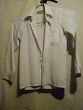 Рубашка школьная белая 100% шёлк. Р-р 29. Цена 70 руб. Макеевка