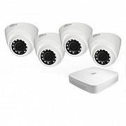 Видеоаблюдение комплект видеонаблюдения Dahua Дахуа регистратор 4 камеры