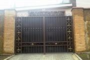 ворота с калиткой лист 2мм покраска установка