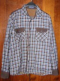 Рубашка мужская/подростковая утеплённая на подкладе. Размер L. Цена 300 руб.