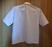 Рубашка белая в школу с коротким рукавом, 116-124 см Донецк