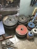блины для олимпийской штанги посадочный диаметр 50мм и 55мм цена 160рублей за кг