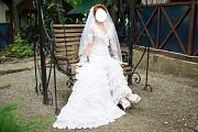 Испанское свадебное платье из гипюра