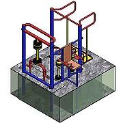 Документация для самостоятельного изготовления угловой тренажёрной группы - 3 тренажера для workout Донецк