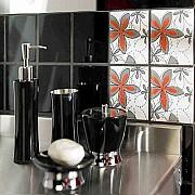 Распродажа 8-) декор для стен фирма «Opozno» коллекция «Aplauz» модель «Flower 1» красный 10×10 см