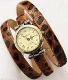 Стильные женские часы с ремешком леопард #205 Донецк