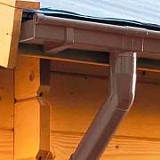 Распродажа 8-) водосточный желоб штучный, коробчатый, компании «Marley» правый Ø70мм. коричневый Донецк