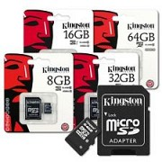 Карта памяти micro SD Kingston class 10 8, 16, 32gb Скоростная