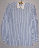 Рубашка с длинным рукавом в полоску. Цена 70 руб. Макеевка