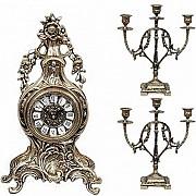 Распродажа 8-) набор подарочный компании «Virtus» часы настольные модель «Fruits»+ пара канделябров Донецк