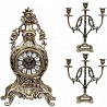 Распродажа 8-) набор подарочный компании «Virtus» часы настольные модель «Fruits»+ пара канделябров