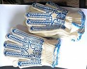 """Перчатки х/б, плотные, белые, с пхв покрытием, """"Звезда"""", класс вязки - 7,5 Макеевка"""