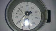 Манометр электроконтактный ЭКМ-2У, 0...160 кгс/см2. СССР. Стаханов