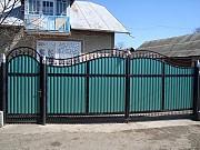 Ворота с калиткой из профнастила Горловка