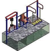 Документация для самостоятельного изготовления линейной тренажёрной группы - 3 тренажера для workout Донецк