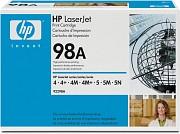 92298A HP 98A Тонер-картридж черный