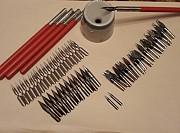 чернильница 60-х годов с ручками и перьями Стаханов