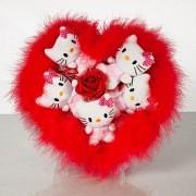 Оригинальный подарок девушке на 14 февраля-Букет из Мягких игрушек Донецк