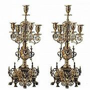 Распродажа 8-) набор (пара) канделябров компании «Virtus» модель «Alberti» (арт. 54021OP). Донецк