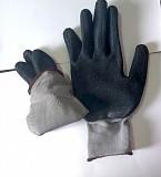 Перчатки нейлоновые, с покрытием из рифленного латекса, 13 класс, стекольщика. Харцызск