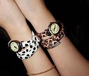 Стильные женские часы с ремешком леопард , #204 Донецк