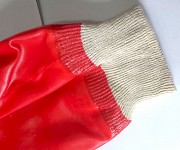 Перчатки хб, мбс, полный облив, пхв, красные, маслобензостойкие, манжета с резинкой. Макеевка