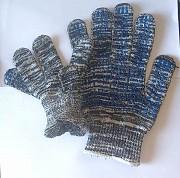 Перчатки, х/б, пхв покрытие, Точка, бело-черные, класс вязки - 10, с манжетом Харцызск