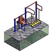 Документация для самостоятельного изготовления тренажёрной группы (ТРИЦЕПС) для площадки workout Донецк