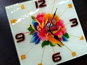 """Витражные часы """"Ты мой цветочек"""" Донецк"""