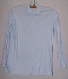 Рубашка голубая с длинным рукавом. Цена 70 руб. Макеевка