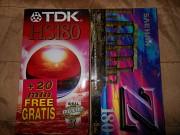 Видеокассеты новые запечатанные TDK HS-180+SAEHAN Z-180 Енакиево
