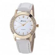 Женские кварцевые часы GENEVA, цвет белый, #261 Донецк