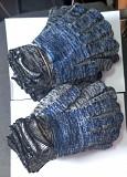 Перчатки, хб, с ПВХ покрытием, точка, плотные, 10 класс вязки, бело-черные. Донецк