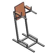 Документация для самостоятельного изготовления тренажёра для бодибилдинга (брусья).