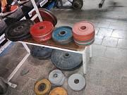Блины для штанги в луганске лнр обрезиненные олимпийские динамо по 15 кг цена за пару 6600 рублей Луганск