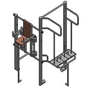 Документация для самостоятельного изготовления угловой тренажёрной группы (2 тренажёра) для workout