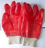 Перчатки маслобензостойкие, полный облив, пхв, красные, манжета с резинкой. Донецк