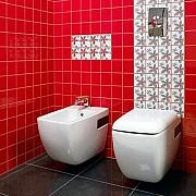 Распродажа 8-) декор для стен фирма «Opozno» коллекция «Aplauz» модель «Flower 2» красный 10×10 см