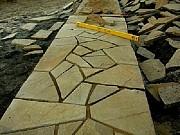 Резанная мозаика из песчаника природного Красный Луч