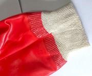 Перчатки маслобензостойкие, мбс, пхв, полный облив, красные, манжета с резинкой. Макеевка