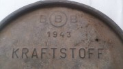 Крышка от бочки 200 л. Вермахт. 1943 г. Стаханов
