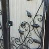 ворота калитка из профнастила с ковкой