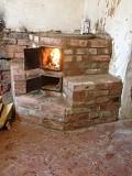 Новая угольно-дровяная печь 1Х1 в поселке Свердлово Харцызск облицовка и стройка с нуля 0713196324 Харцызск