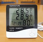 Гигрометр-термометр - KETOTEK HTC-2, измеритель, метеостанция, часы Донецк